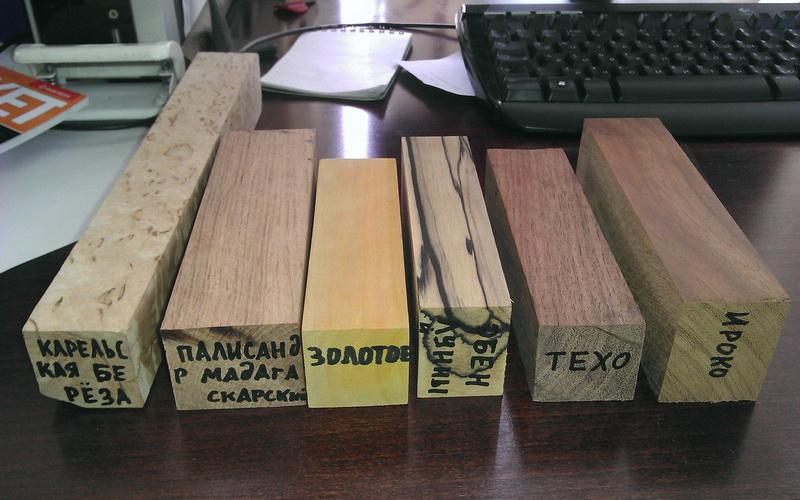 Разнообразие цветов ценных пород древесины