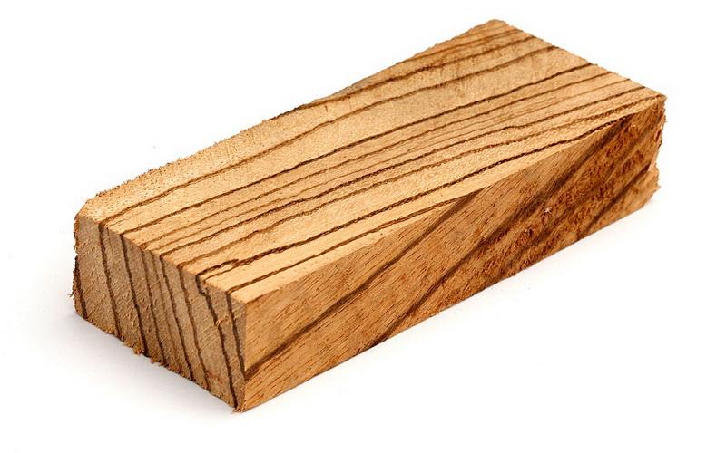 Брусок из дерева Зебрано